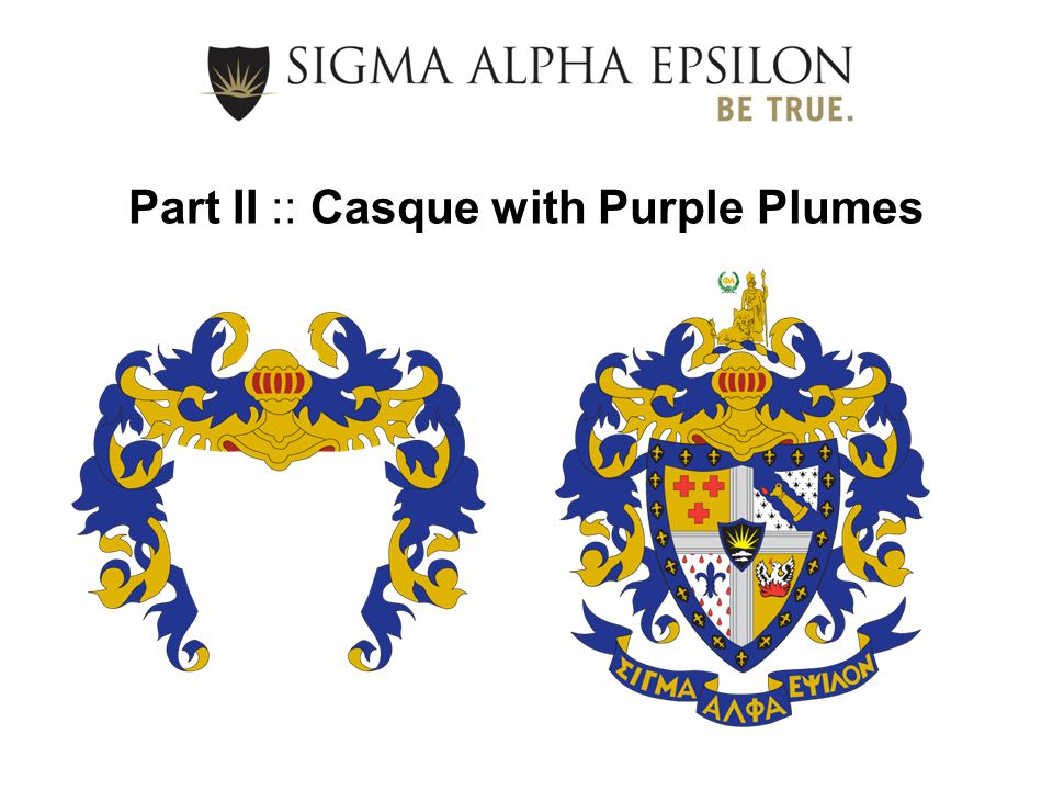 Part II :: Casque with Purple Plumes