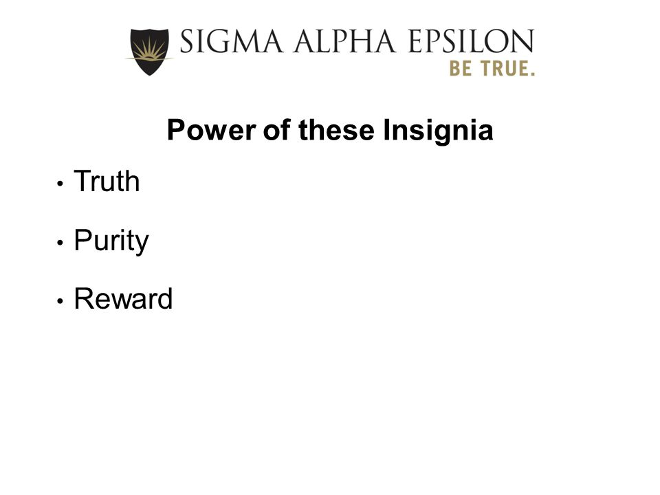 Power of these Insignia