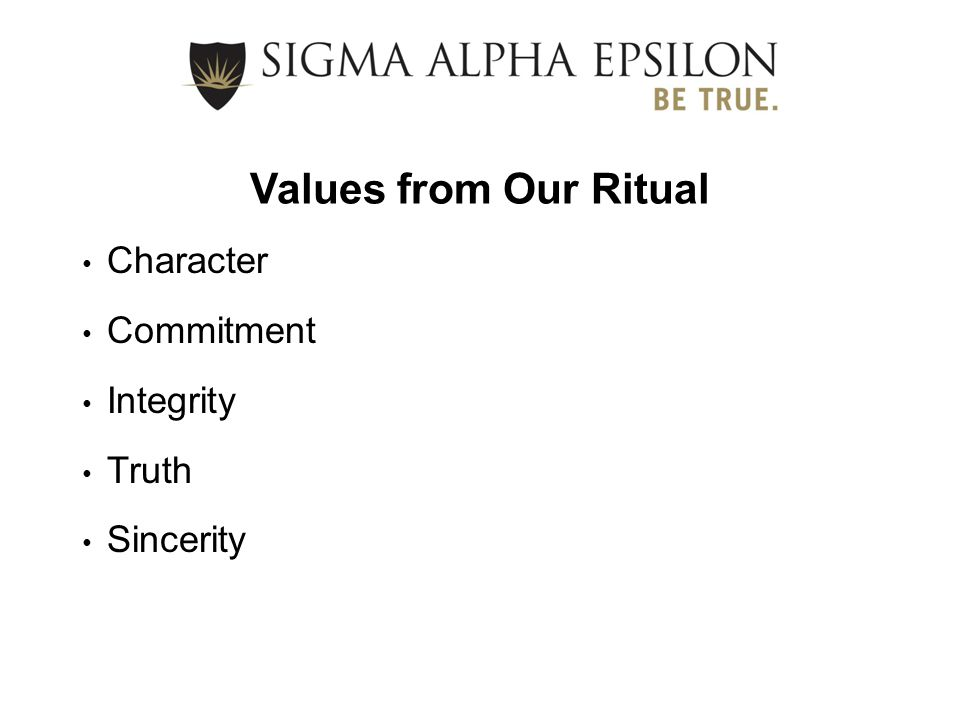 Character Commitment Integrity Truth Sincerity