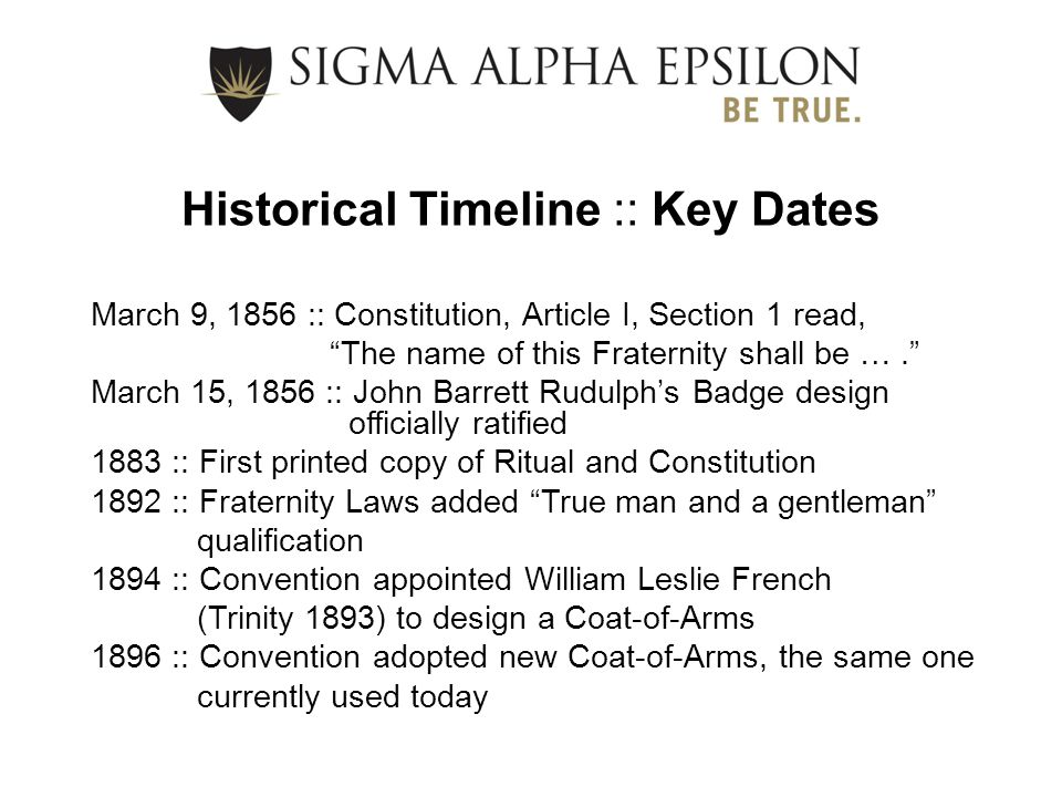 Historical Timeline :: Key Dates
