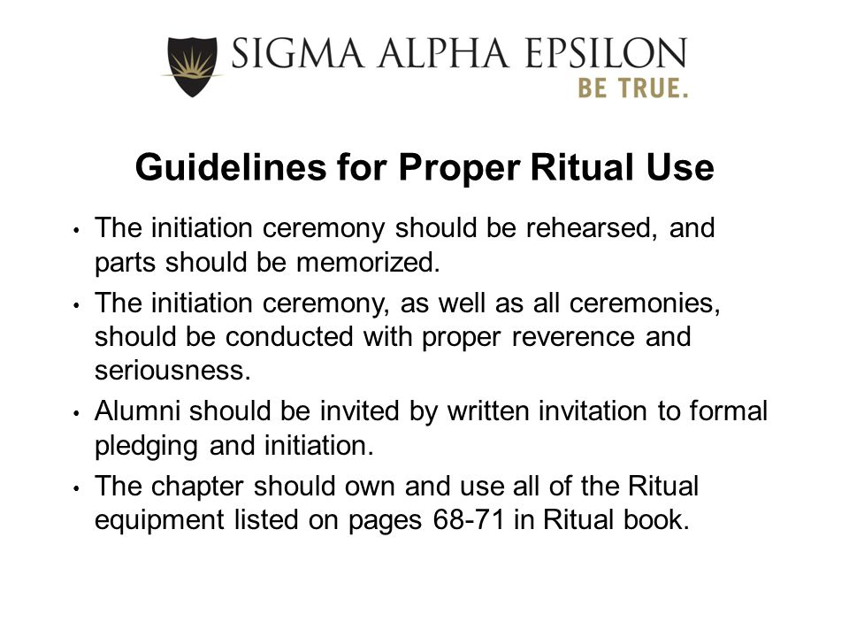Guidelines for Proper Ritual Use