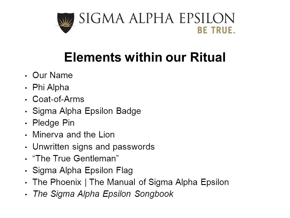 Elements within our Ritual