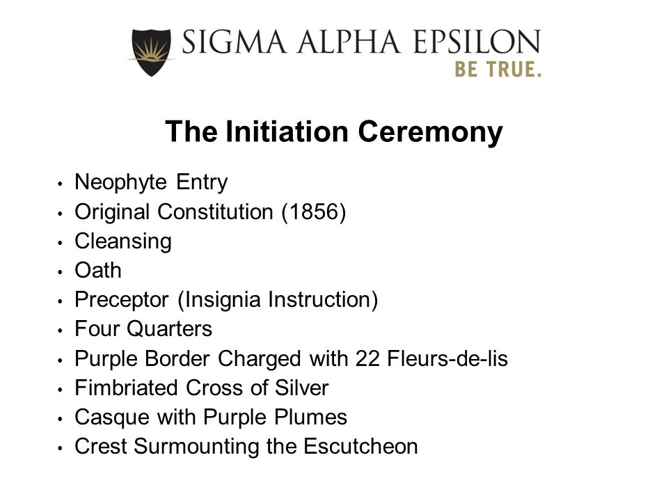 The Initiation Ceremony