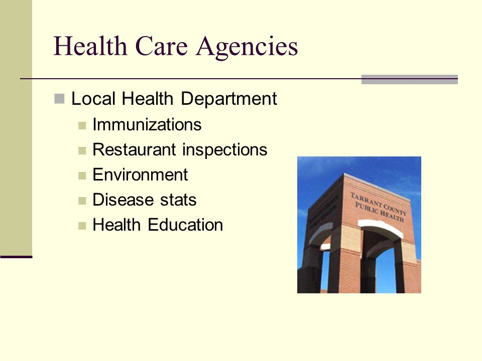 Health Care Agencies Local Health Department Immunizations