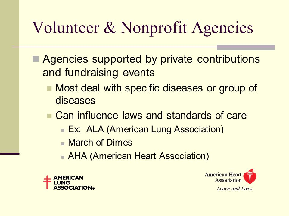 Volunteer & Nonprofit Agencies