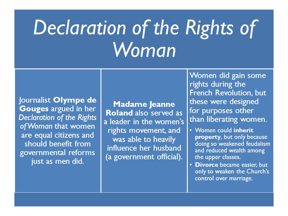 Declaration of the Rights of Woman