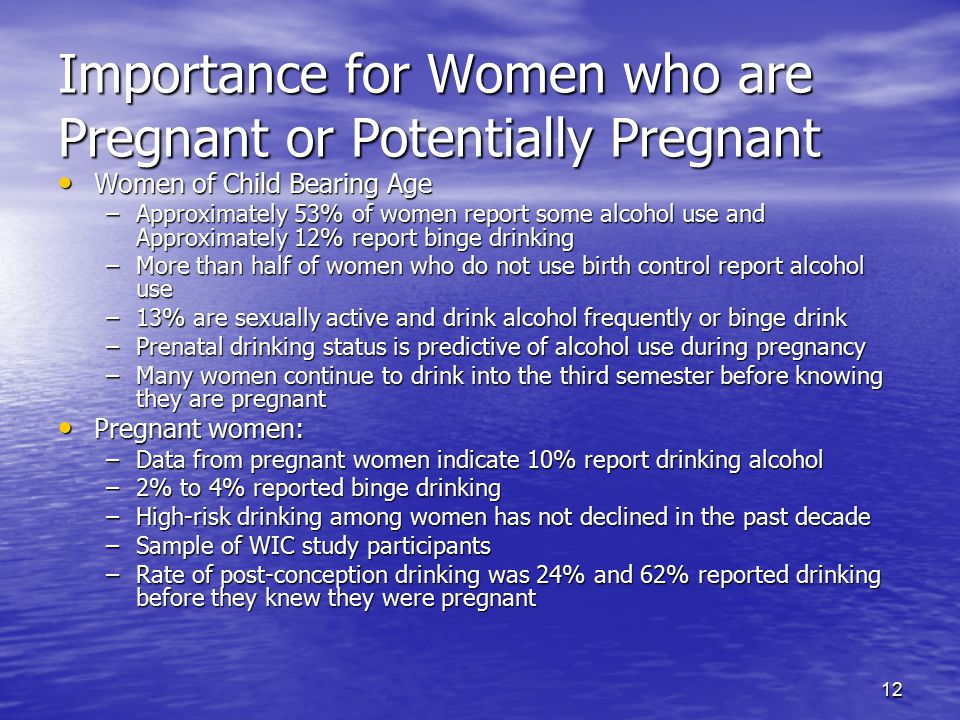 Importance for Women who are Pregnant or Potentially Pregnant