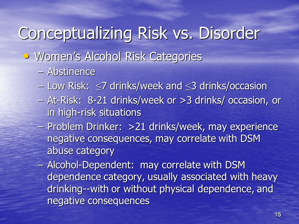 Conceptualizing Risk vs. Disorder