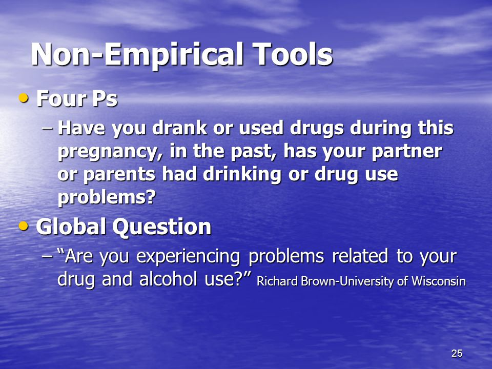 Non-Empirical Tools Four Ps Global Question