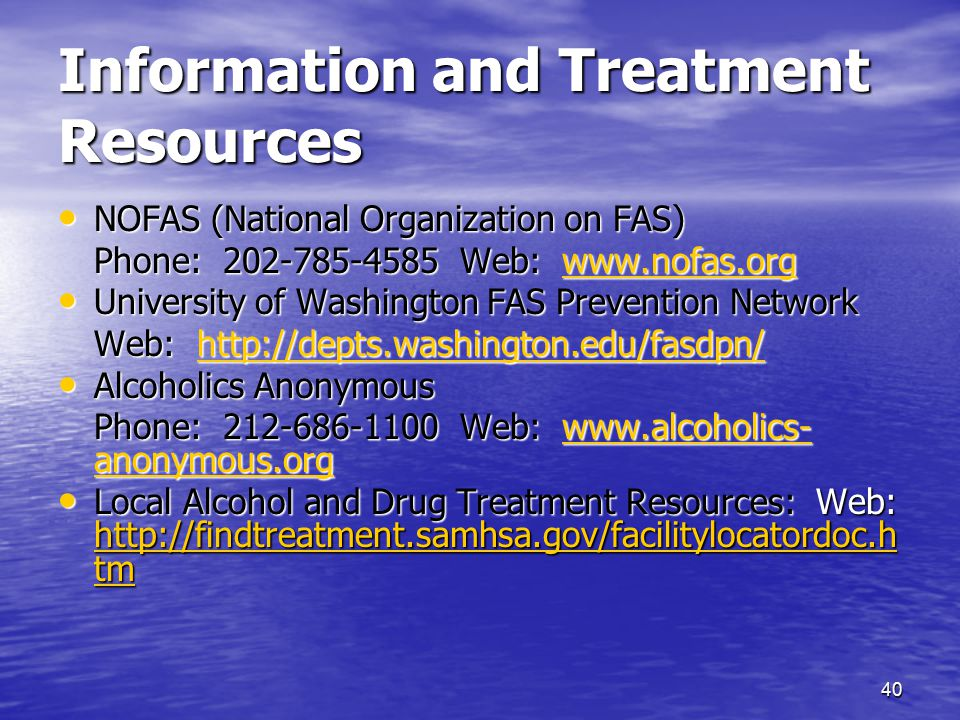 Information and Treatment Resources