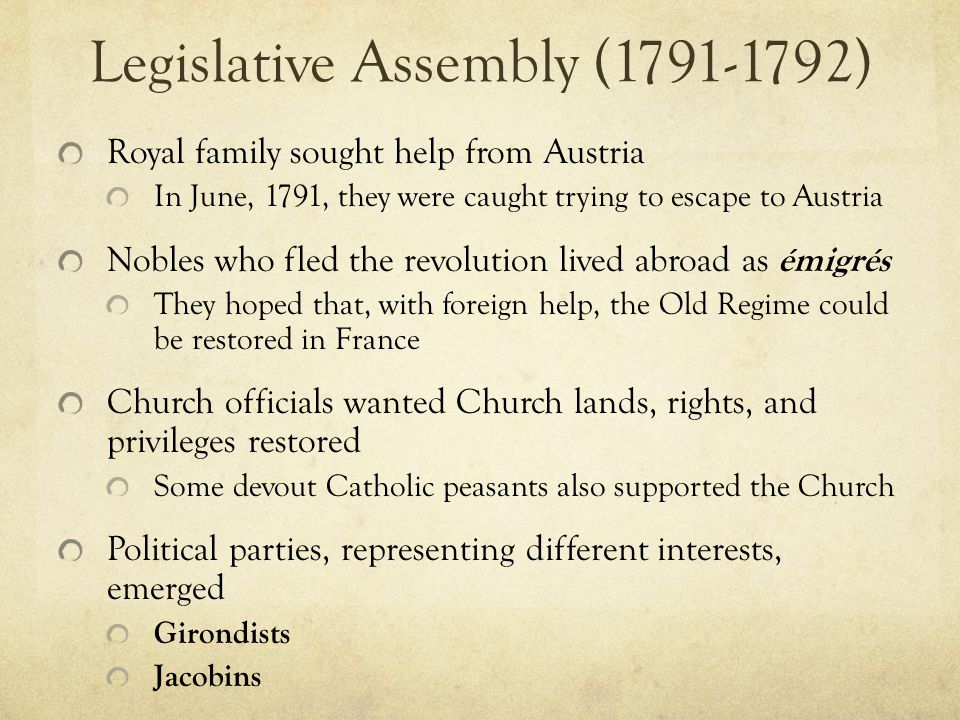 Legislative Assembly (1791-1792)
