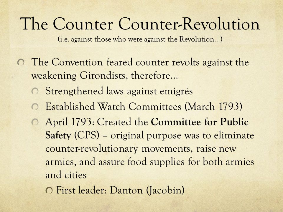 The Counter Counter-Revolution (i. e