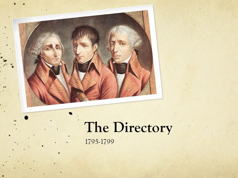 The Directory 1795-1799