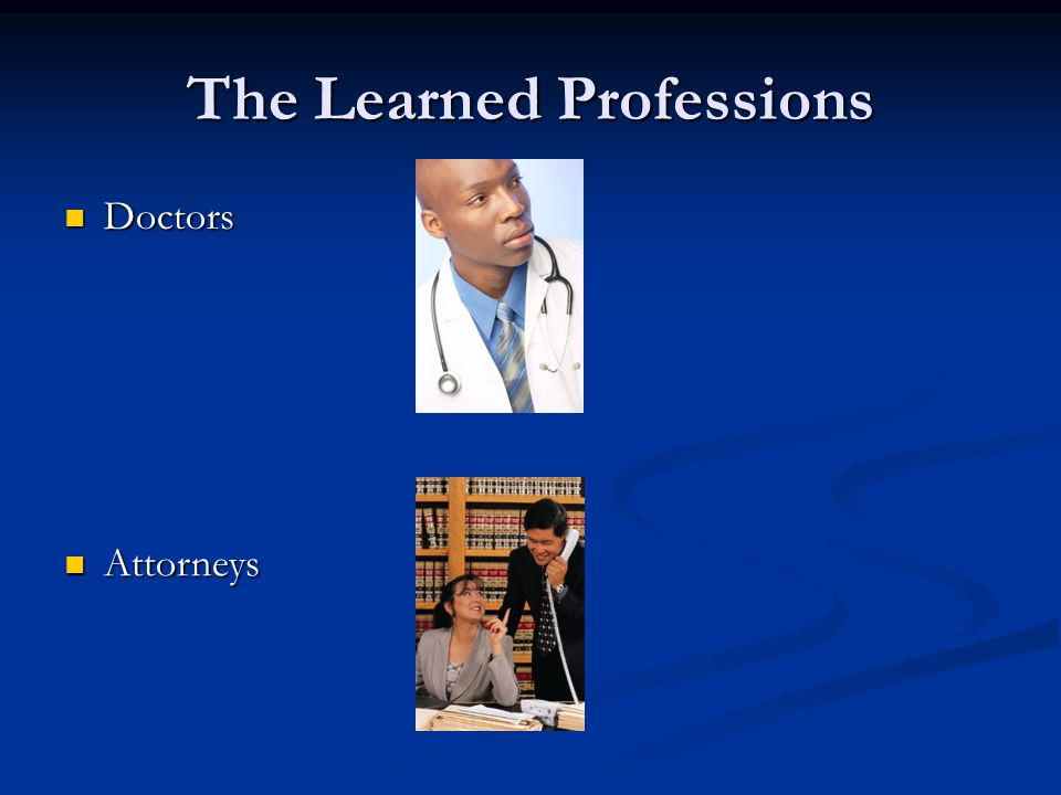 The Learned Professions