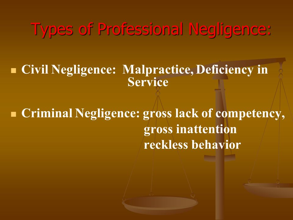Types of Professional Negligence: