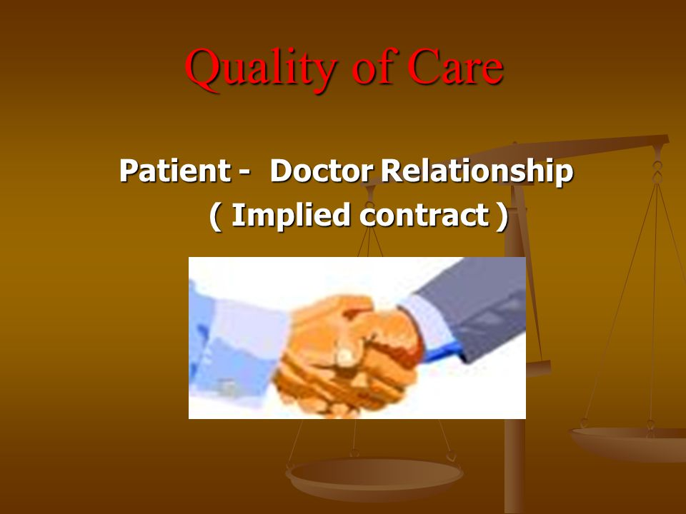 Patient - Doctor Relationship