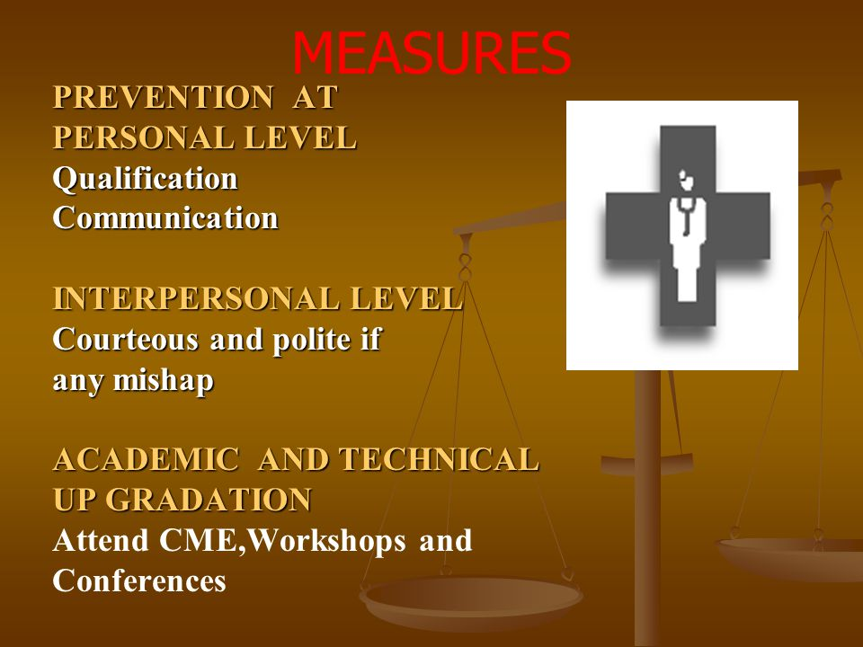 MEASURES PREVENTION AT PERSONAL LEVEL Qualification Communication