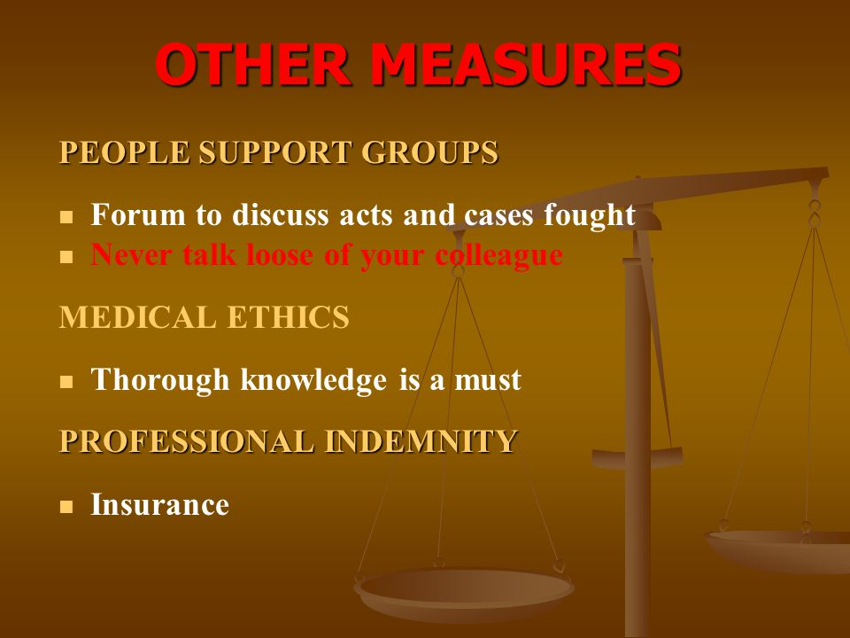 OTHER MEASURES PEOPLE SUPPORT GROUPS