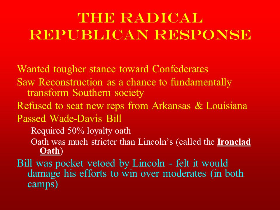 The Radical Republican Response
