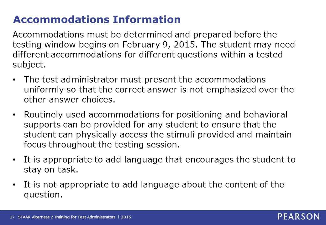Accommodations Information