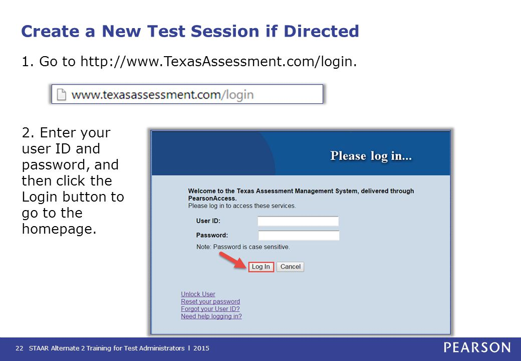 Create a New Test Session if Directed