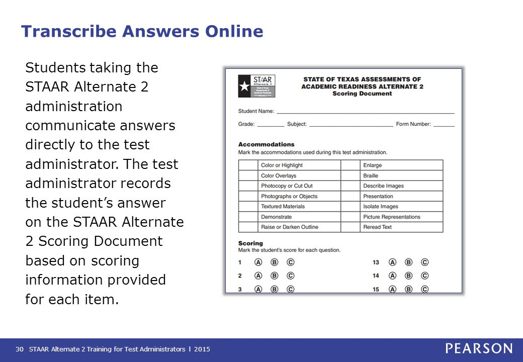 Transcribe Answers Online