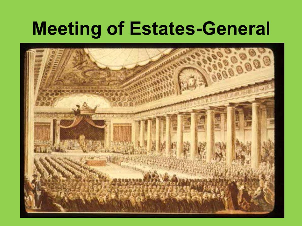 Meeting of Estates-General