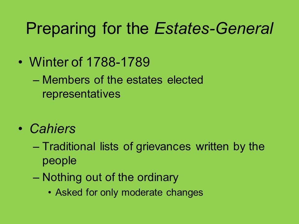Preparing for the Estates-General