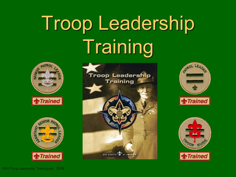 Troop Leadership Training