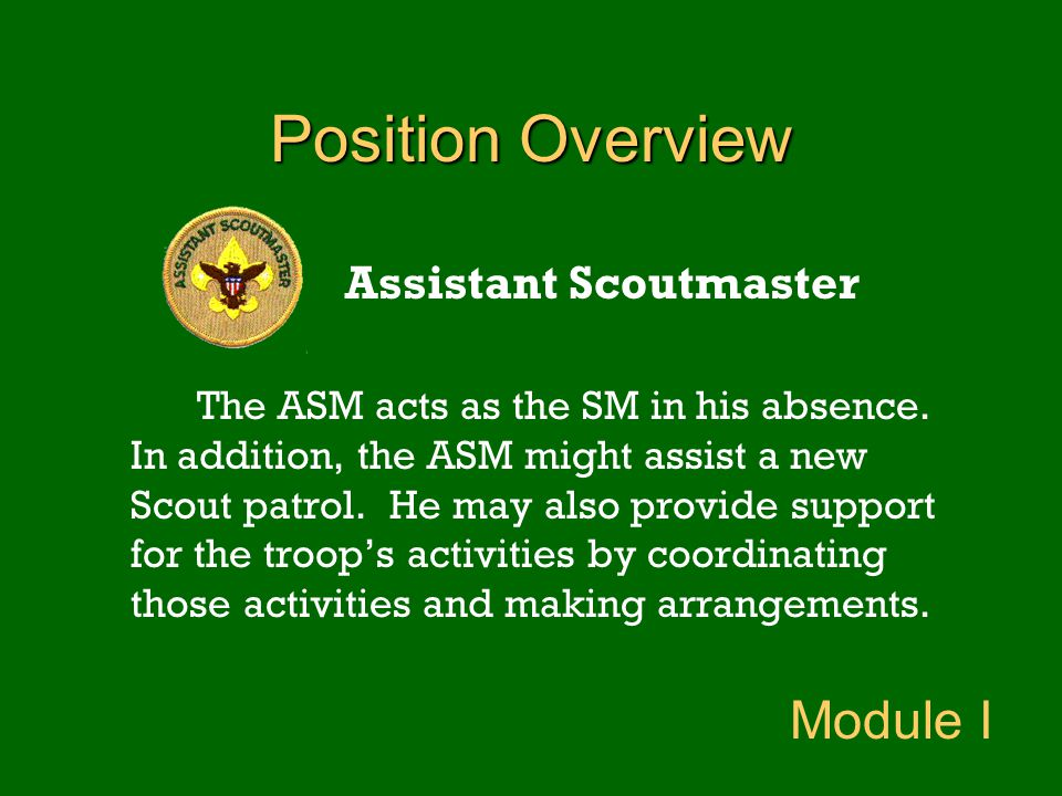 Assistant Scoutmaster