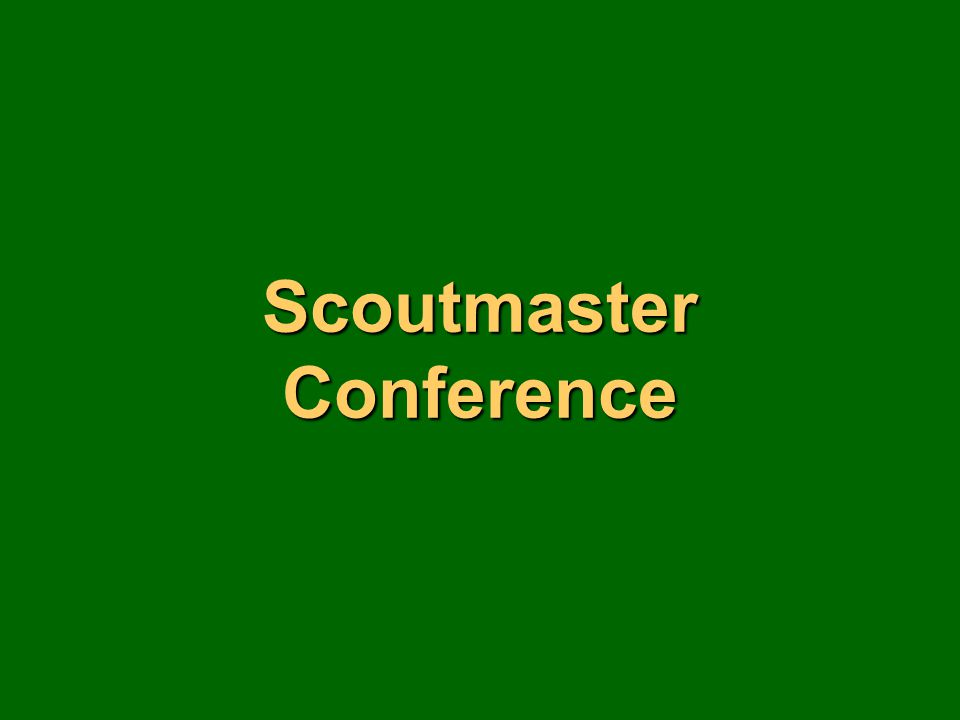 Scoutmaster Conference