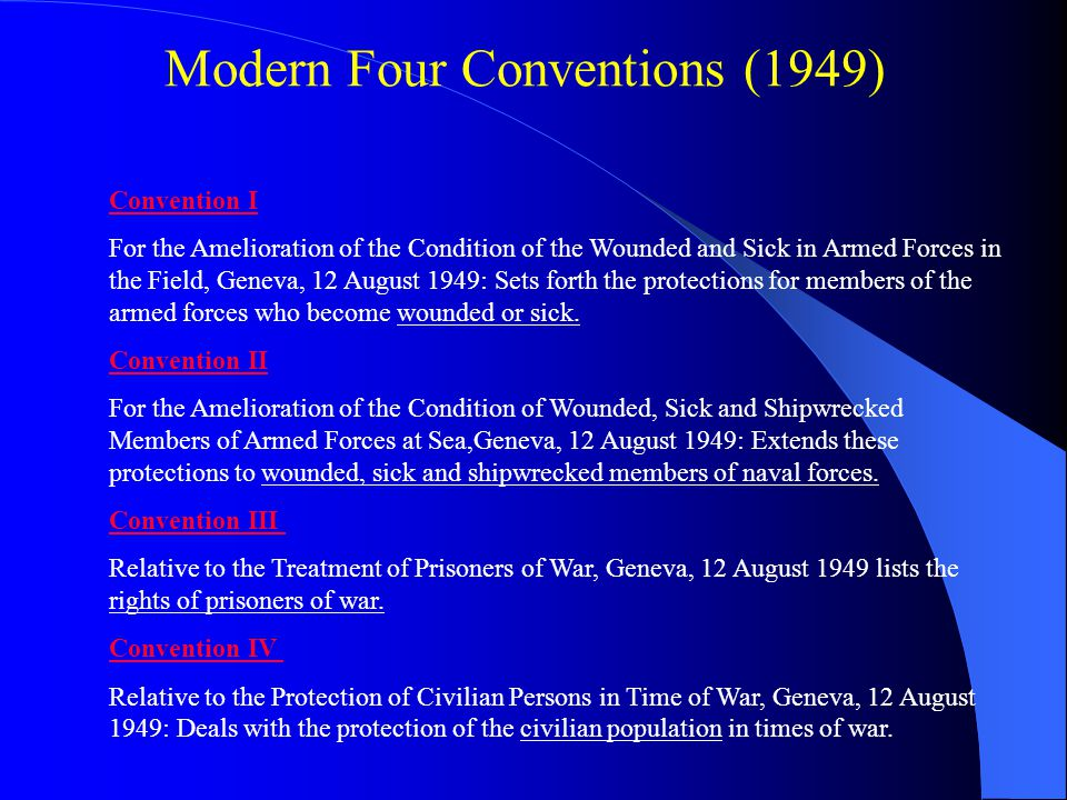 Modern Four Conventions (1949)