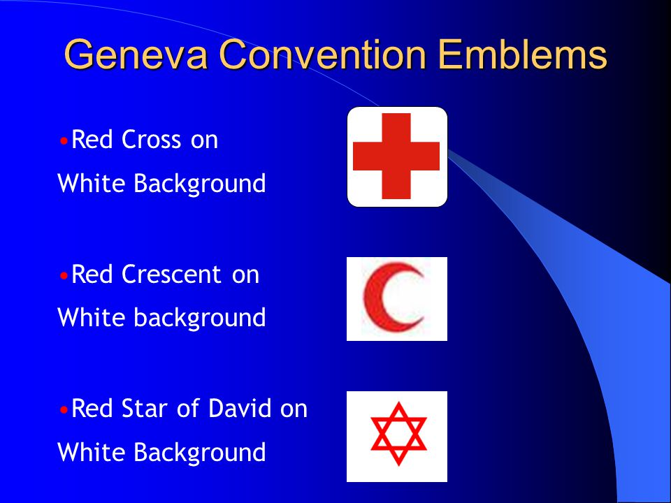 Geneva Convention Emblems