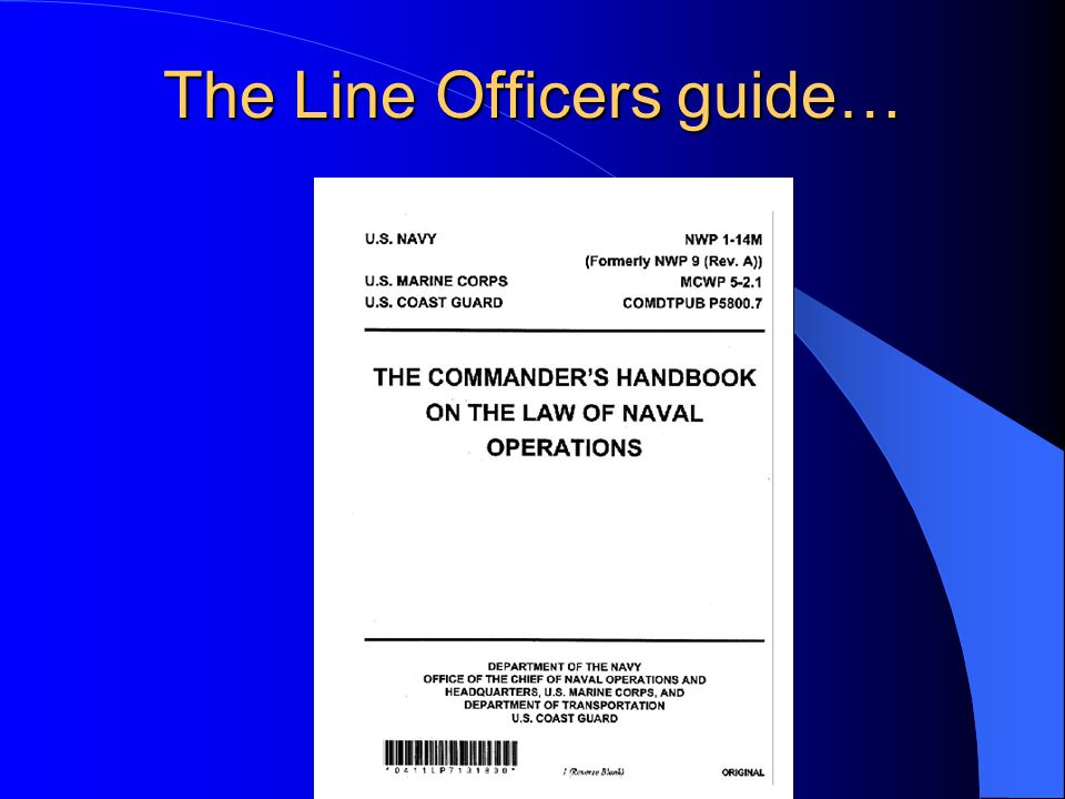 The Line Officers guide…