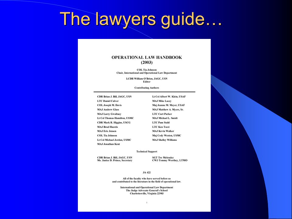 The lawyers guide…