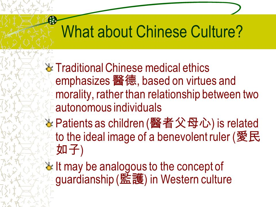 What about Chinese Culture