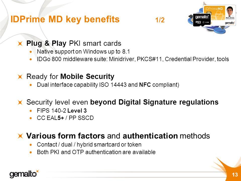 IDPrime MD key benefits 1/2