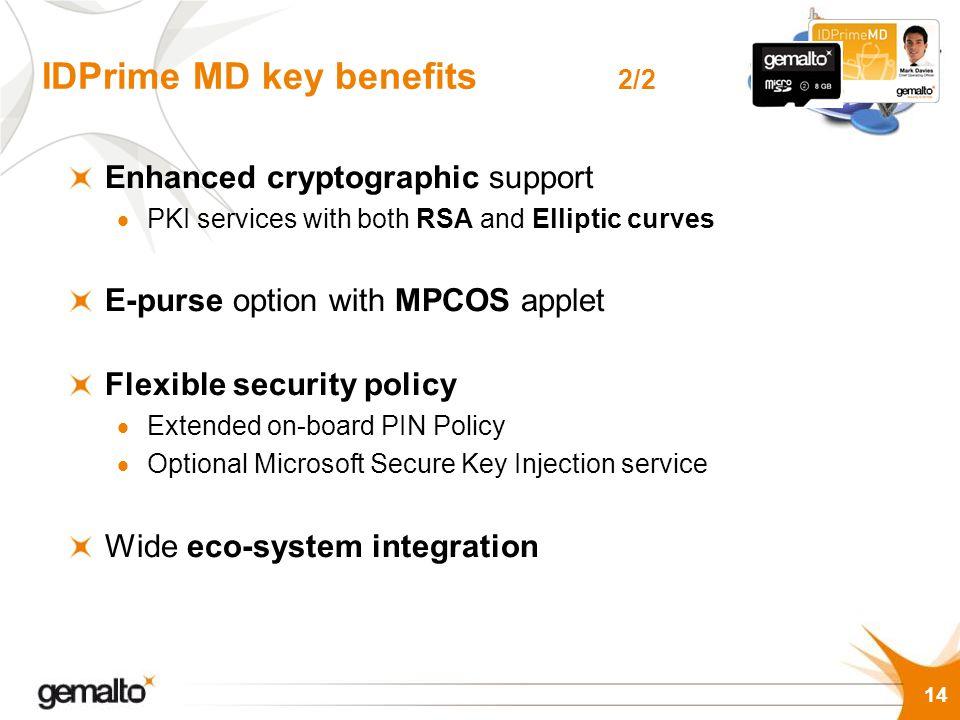 IDPrime MD key benefits 2/2