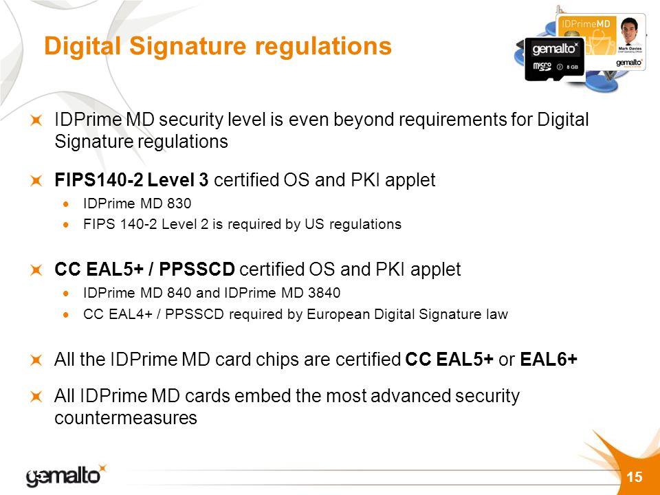 Digital Signature regulations