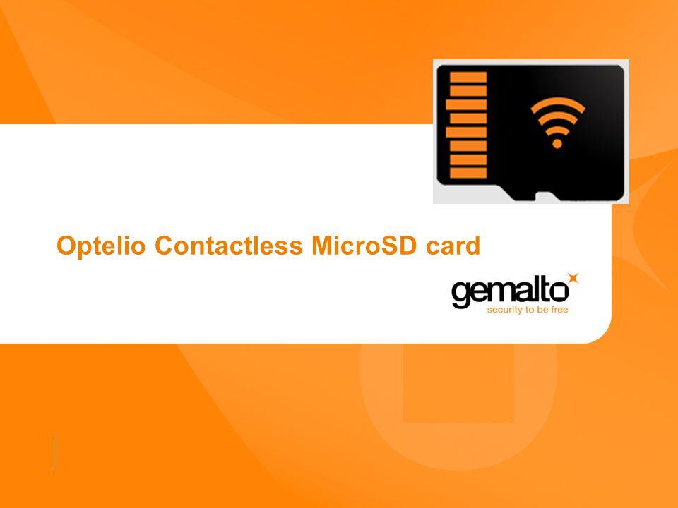 Optelio Contactless MicroSD card