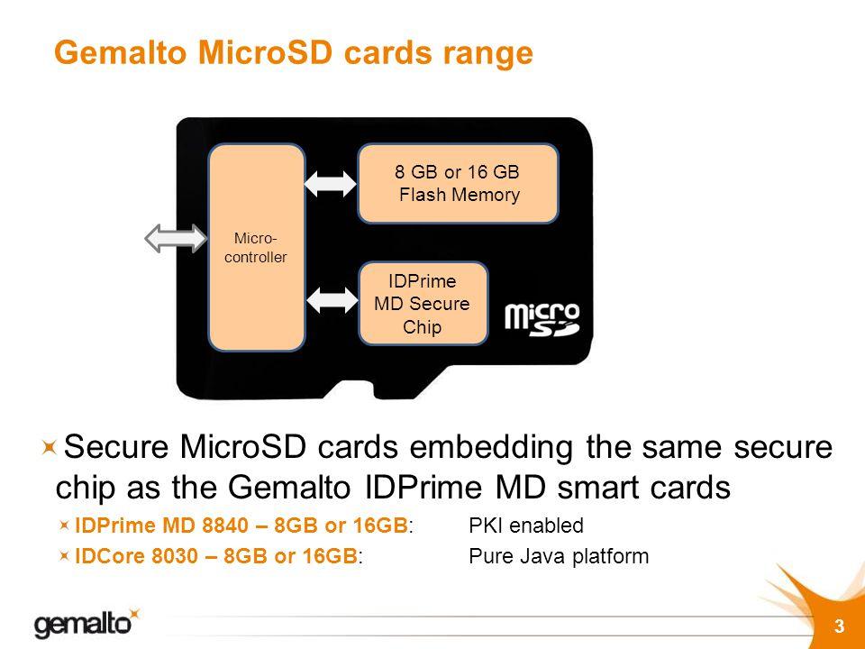 Gemalto MicroSD cards range