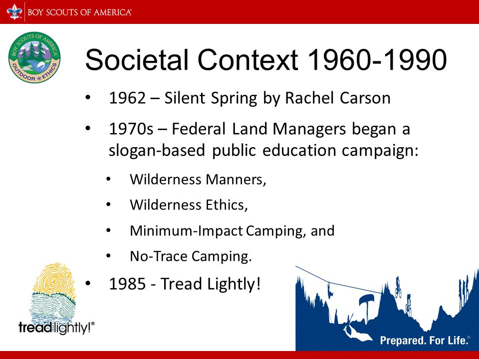 Societal Context 1960-1990 1962 – Silent Spring by Rachel Carson