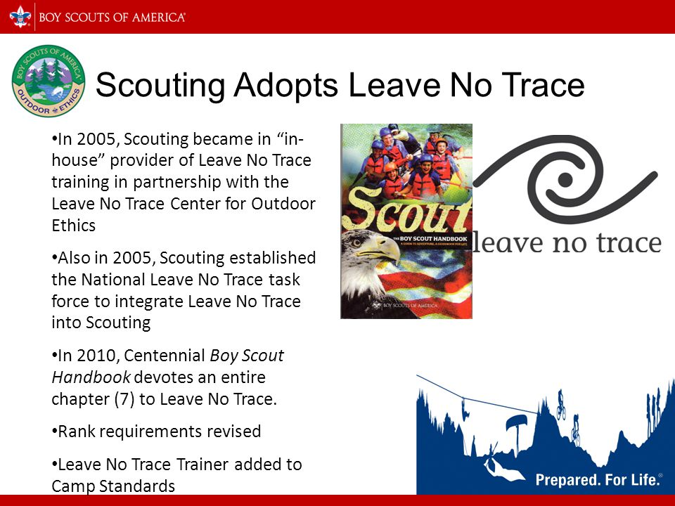 Scouting Adopts Leave No Trace