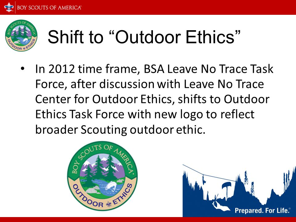 Shift to Outdoor Ethics