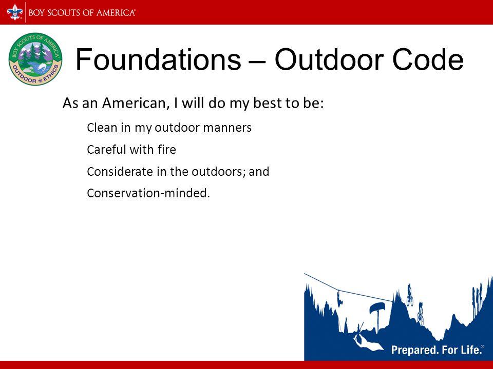 Foundations – Outdoor Code