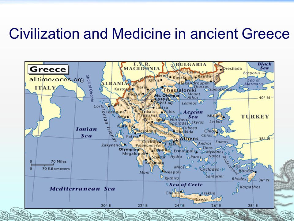 Civilization and Medicine in ancient Greece