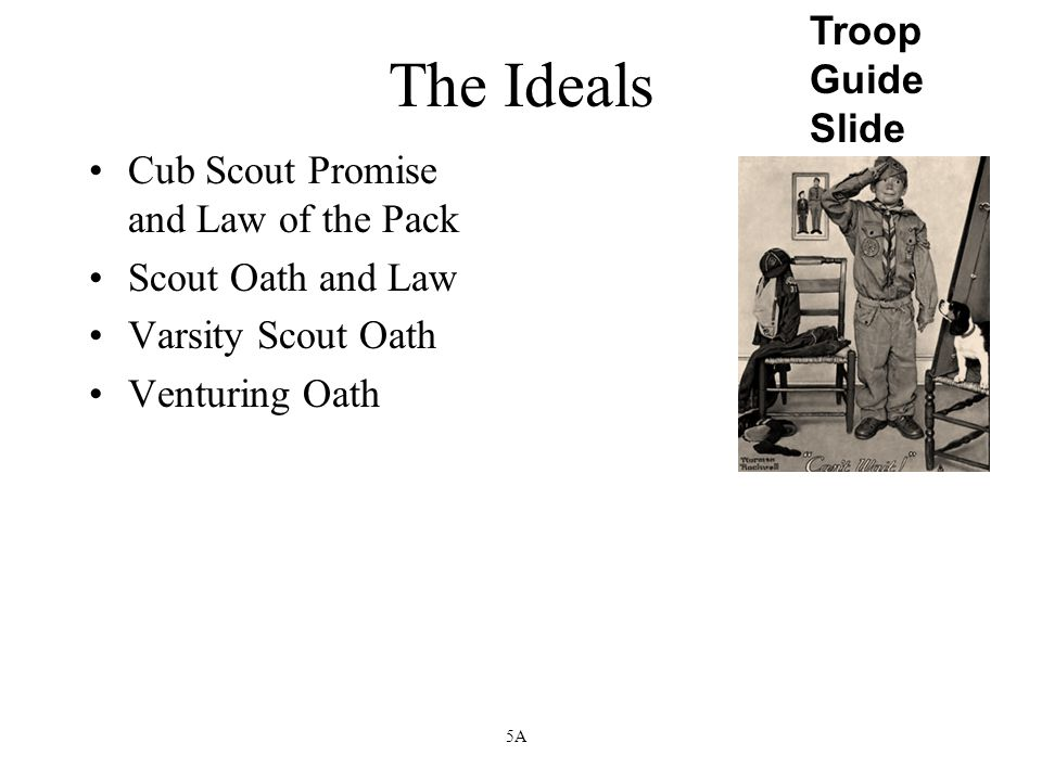 The Ideals Troop Guide Slide Cub Scout Promise and Law of the Pack
