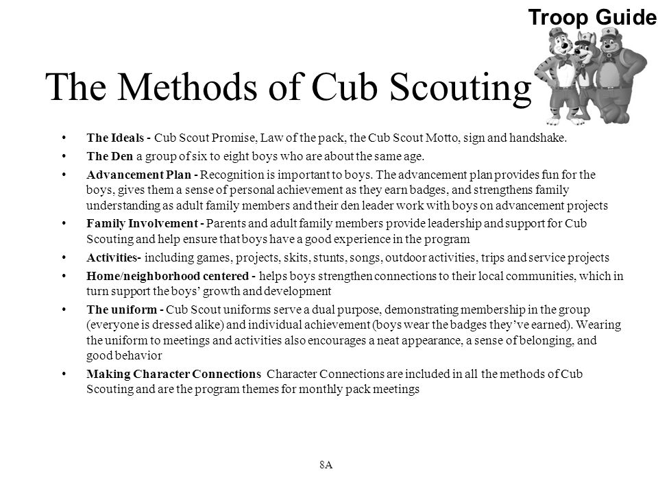 The Methods of Cub Scouting