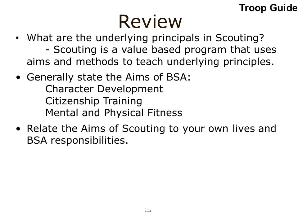 Review Troop Guide Slide
