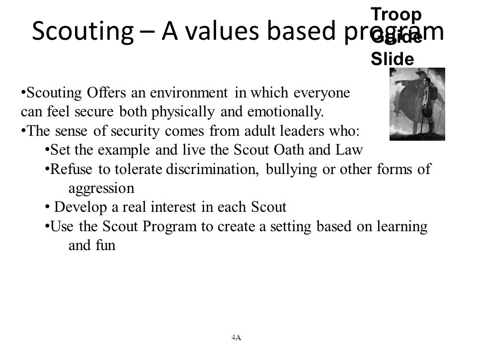 Scouting – A values based program